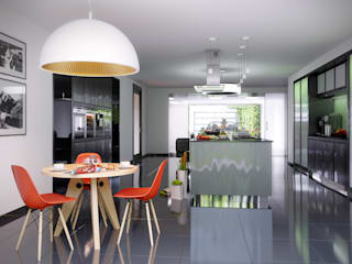 Zevo House Kitchen: Cozinhas  por RIP3D ARCHVIZ