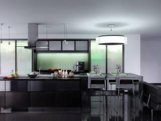 Zevo House kitchen โดย RIP3D ARCHVIZ โมเดิร์น