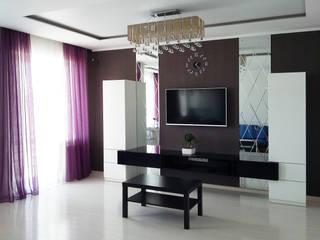 Квартира-студия г.Новороссийск Гостиные в эклектичном стиле от Yana Ikrina Design Эклектичный
