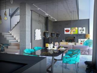 Pechersk apartment: Гостиная в . Автор – ONEDESIGN