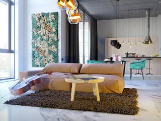 Pechersk apartment: Спальни в . Автор – ONEDESIGN