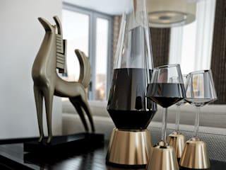 London Penthouse: Salas de estar  por RIP3D ARCHVIZ