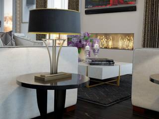 London Penthouse Ruang Keluarga Klasik Oleh RIP3D ARCHVIZ Klasik
