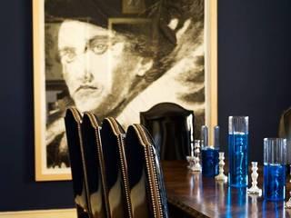 Blue Dinning Room: Salas de jantar  por CUBICULUM   //  arquitectura & interiores ,Eclético
