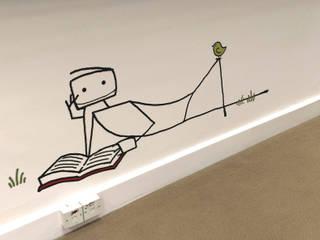 UNBOUND - Custom office wall graphics.: modern  by Wallboss Ltd, Modern