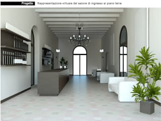 Progetto per cambio destinazione d'uso Villa Veneta: Bar & Club in stile  di Interno 4