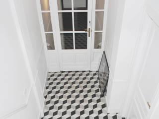 Minimalist corridor, hallway & stairs by planomatic Minimalist