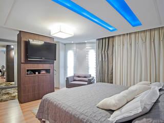 Patrícia Azoni Arquitetura + Arte & Design 臥室 Wood effect
