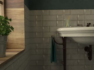 SIMPLE actitud Eclectic style bathrooms Pottery Green