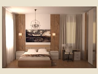 Спальня. Спальня в стиле минимализм от freeDOM Минимализм