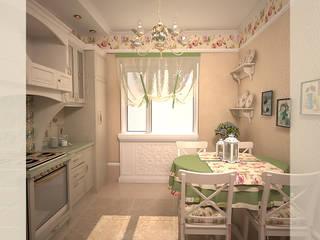 Милая кухня Кухня в стиле кантри от freeDOM Кантри