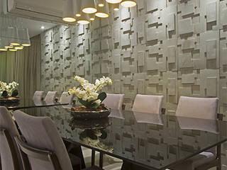 Apartamento Brooklin Salas de jantar modernas por Nuovo Design de Interiores Moderno