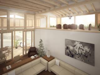 Salones de estilo  de JR Arquitectos