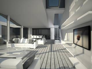 VIVIENDA UNIFAMILIAR Z Salones de estilo moderno de AZ ARKITECTOS Moderno
