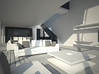 VIVIENDA UNIFAMILIAR Z: Salones de estilo  de AZ ARKITECTOS