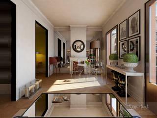 Vivienda M+P Salones de estilo ecléctico de San-Pal Interiorismo Ecléctico