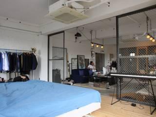 90平米のワンルーム インダストリアルスタイルの 寝室 の HOUSETRAD CO.,LTD インダストリアル