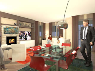 House in Torgiano Planet G Modern dining room