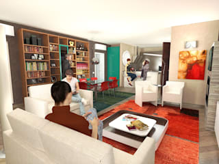 House in Torgiano Planet G Modern living room