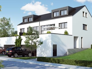 Casas modernas de winhard 3D Moderno