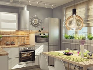 Modern kitchen by Alena Gorskaya Design Studio Modern