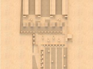 Modello - Vista zenitale:  in stile  di Mirco Simonato - Studio di Architettura