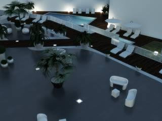 Jardin de style  par Arqnow, Unipessoal, Lda, Minimaliste
