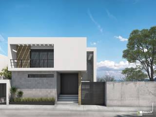 Bau-Art Taller de Arquitectura Rumah Minimalis White