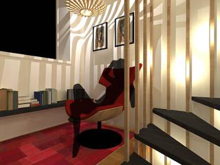 Escalier contemporain Couloir, entrée, escaliers modernes par ARKENDAI Moderne