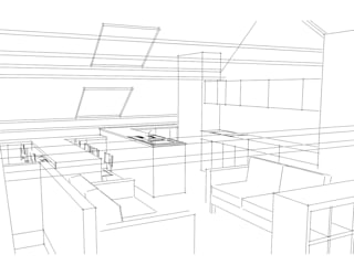 Rénovation d'une maison de charme bruxelloise Salon moderne par ARKENDAI Moderne