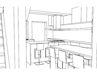 Rénovation d'une maison de charme bruxelloise Cuisine moderne par ARKENDAI Moderne