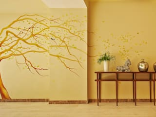 MC Design Eclectic style walls & floors Marble Yellow