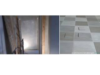 Paredes e pisos minimalistas por MmArchi. I Monica Maraspin Architetto Minimalista