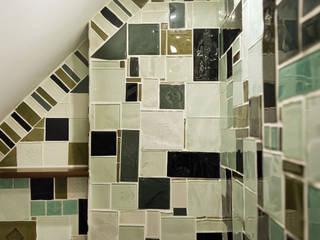mozaika szklana Nowoczesna łazienka od unikatowe kafelki Nowoczesny