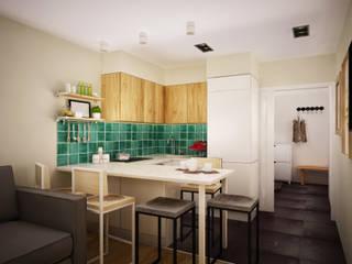 Квартира в Бутово: Кухни в . Автор – Tatiana Bezverkhaya Design