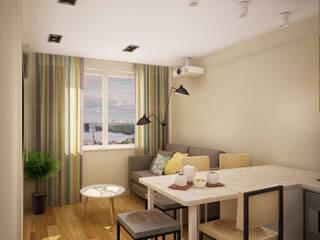 Квартира в Бутово: Гостиная в . Автор – Tatiana Bezverkhaya Design