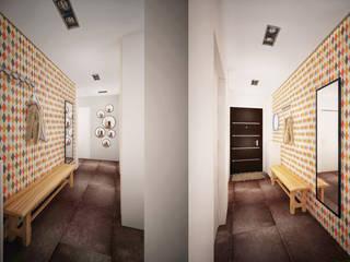 TB.Design Scandinavian style corridor, hallway& stairs