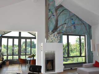 Private Haus Wandecoration Silvia Betancourt Designs Wände & BodenWanddekorationen Papier Mehrfarbig