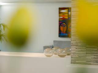Pasillos y vestíbulos de estilo  por Andressa Rangel Arquitetura e Interiores, Moderno
