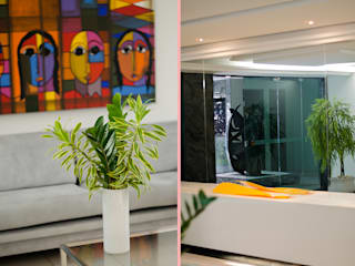Hall Edifício Graças: Corredores e halls de entrada  por Andressa Rangel Arquitetura e Interiores,