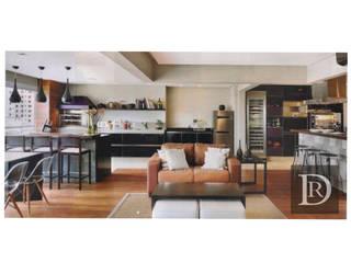 Projeto Paraíso Salas de estar modernas por Debora de Rezende   arquitetura e interiores Moderno