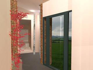 Entrée: Couloir et hall d'entrée de style  par ARKENDAI