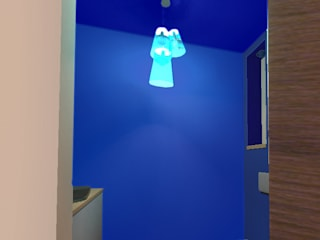 Sanitaires d'entrée: Couloir et hall d'entrée de style  par ARKENDAI