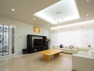 Residende Y モダンデザインの リビング の 一級建築士事務所ATELIER-LOCUS モダン