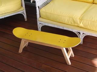 Skateboard Stool & Magazine Rack yellow skate-home HogarArtículos del hogar