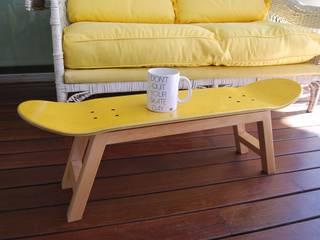 Skateboard Stool & Magazine Rack yellow skate-home ComedorMesas