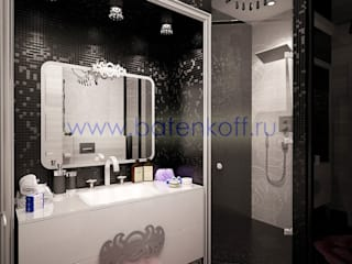 homify Classic style bathrooms Tiles Black
