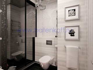 homify Classic style bathrooms Glass White