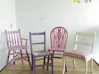 おしゃれな椅子店 Dining roomChairs & benches Wood Pink