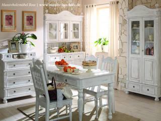 Landhausküche :  Esszimmer von Massiv aus Holz